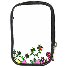 Floral Border Cartoon Flower Doodle Compact Camera Cases by Nexatart
