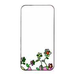 Floral Border Cartoon Flower Doodle Apple Iphone 4/4s Seamless Case (black) by Nexatart