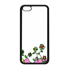 Floral Border Cartoon Flower Doodle Apple Iphone 5c Seamless Case (black) by Nexatart