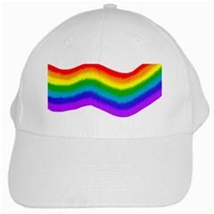 Watercolour Rainbow Colours White Cap by Nexatart