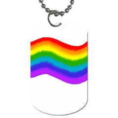 Watercolour Rainbow Colours Dog Tag (one Side) by Nexatart