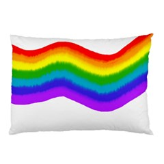 Watercolour Rainbow Colours Pillow Case (two Sides) by Nexatart
