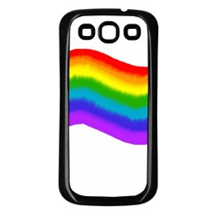 Watercolour Rainbow Colours Samsung Galaxy S3 Back Case (black) by Nexatart