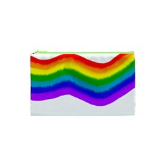 Watercolour Rainbow Colours Cosmetic Bag (xs) by Nexatart