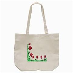 Floral Doodle Flower Border Cartoon Tote Bag (cream) by Nexatart