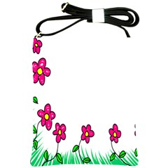 Floral Doodle Flower Border Cartoon Shoulder Sling Bags by Nexatart