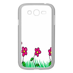 Floral Doodle Flower Border Cartoon Samsung Galaxy Grand Duos I9082 Case (white)
