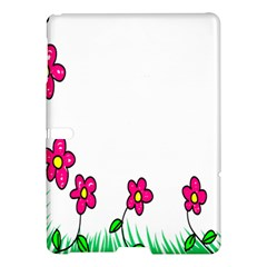 Floral Doodle Flower Border Cartoon Samsung Galaxy Tab S (10 5 ) Hardshell Case  by Nexatart