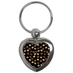 Donuts Pattern Key Chains (heart)  by Valentinaart