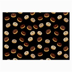Donuts pattern Large Glasses Cloth (2-Side) by Valentinaart