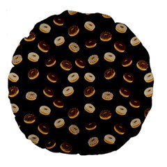 Donuts Pattern Large 18  Premium Round Cushions by Valentinaart