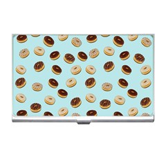 Donuts Pattern Business Card Holders by Valentinaart