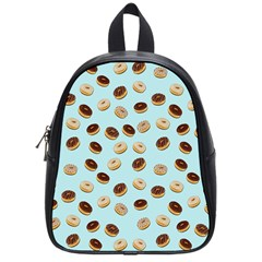 Donuts Pattern School Bags (small)  by Valentinaart