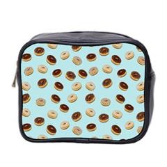 Donuts Pattern Mini Toiletries Bag 2 Side by Valentinaart