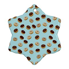 Donuts Pattern Snowflake Ornament (two Sides) by Valentinaart
