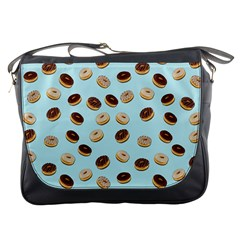 Donuts Pattern Messenger Bags by Valentinaart