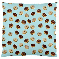 Donuts Pattern Large Cushion Case (two Sides) by Valentinaart