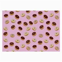 Donuts Pattern Large Glasses Cloth (2 Side) by Valentinaart
