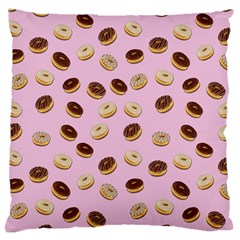 Donuts Pattern Large Cushion Case (one Side) by Valentinaart