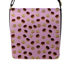 Donuts Pattern Flap Messenger Bag (l)  by Valentinaart
