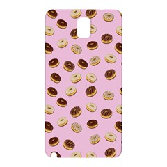 Donuts Pattern Samsung Galaxy Note 3 N9005 Hardshell Back Case by Valentinaart