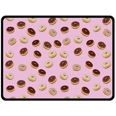 Donuts Pattern Double Sided Fleece Blanket (large)  by Valentinaart