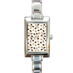 Donuts Pattern Rectangle Italian Charm Watch by Valentinaart