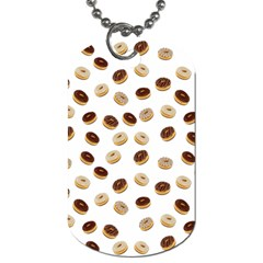 Donuts Pattern Dog Tag (one Side) by Valentinaart