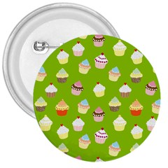 Cupcakes Pattern 3  Buttons by Valentinaart