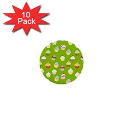 Cupcakes Pattern 1  Mini Buttons (10 Pack)  by Valentinaart