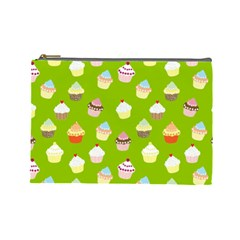Cupcakes Pattern Cosmetic Bag (large)  by Valentinaart