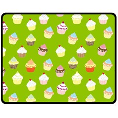 Cupcakes Pattern Fleece Blanket (medium)  by Valentinaart