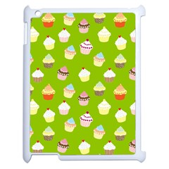 Cupcakes Pattern Apple Ipad 2 Case (white) by Valentinaart
