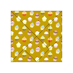 Cupcakes Pattern Acrylic Tangram Puzzle (4  X 4 ) by Valentinaart