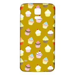 Cupcakes pattern Samsung Galaxy S5 Back Case (White) by Valentinaart