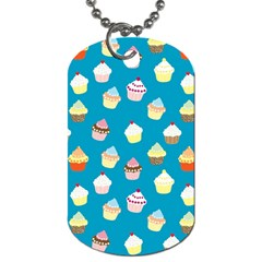Cupcakes Pattern Dog Tag (one Side) by Valentinaart