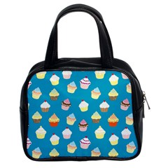 Cupcakes Pattern Classic Handbags (2 Sides) by Valentinaart