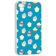 Cupcakes Pattern Apple Iphone 4/4s Seamless Case (white) by Valentinaart