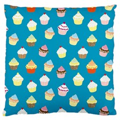 Cupcakes Pattern Large Cushion Case (one Side) by Valentinaart