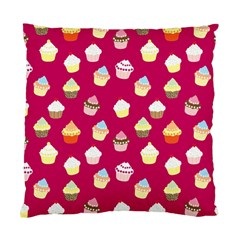 Cupcakes Pattern Standard Cushion Case (one Side) by Valentinaart