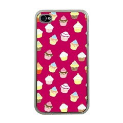 Cupcakes Pattern Apple Iphone 4 Case (clear) by Valentinaart