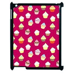 Cupcakes Pattern Apple Ipad 2 Case (black) by Valentinaart