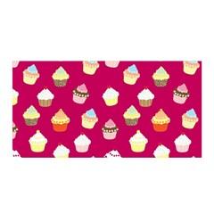 Cupcakes Pattern Satin Wrap by Valentinaart
