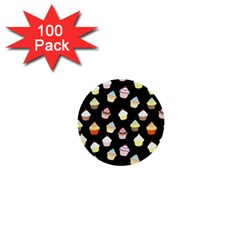 Cupcakes Pattern 1  Mini Buttons (100 Pack)  by Valentinaart