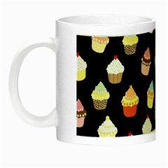 Cupcakes Pattern Night Luminous Mugs by Valentinaart