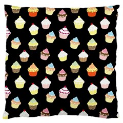Cupcakes Pattern Standard Flano Cushion Case (two Sides) by Valentinaart