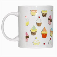 Cupcakes Pattern White Mugs by Valentinaart