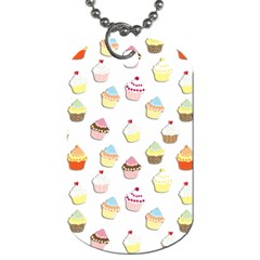 Cupcakes Pattern Dog Tag (two Sides) by Valentinaart