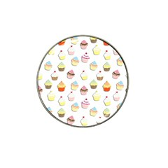 Cupcakes Pattern Hat Clip Ball Marker by Valentinaart