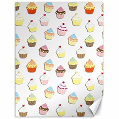 Cupcakes Pattern Canvas 18  X 24   by Valentinaart